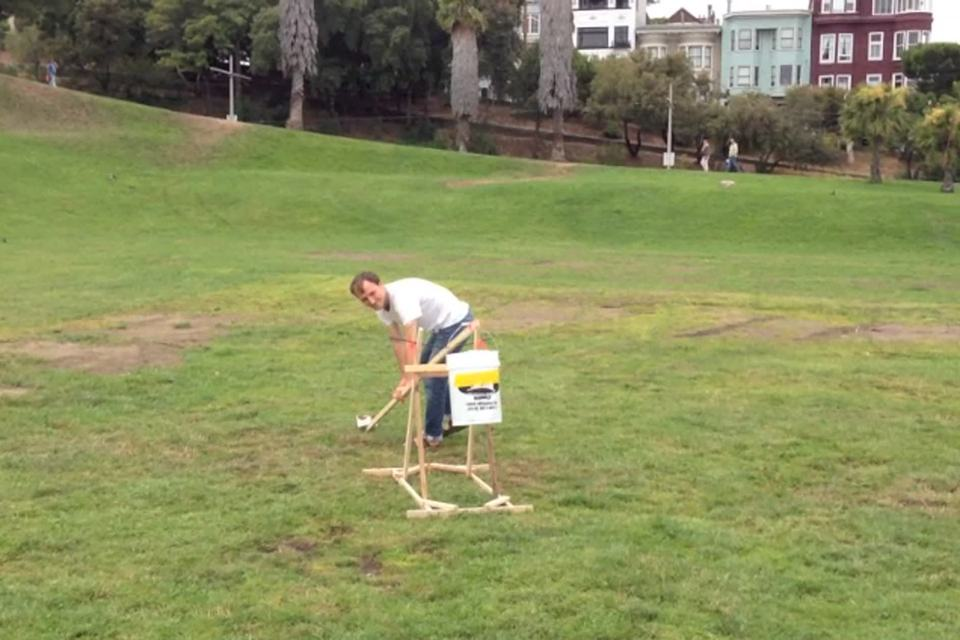 Catapult trebuchet water balloon launcher diy